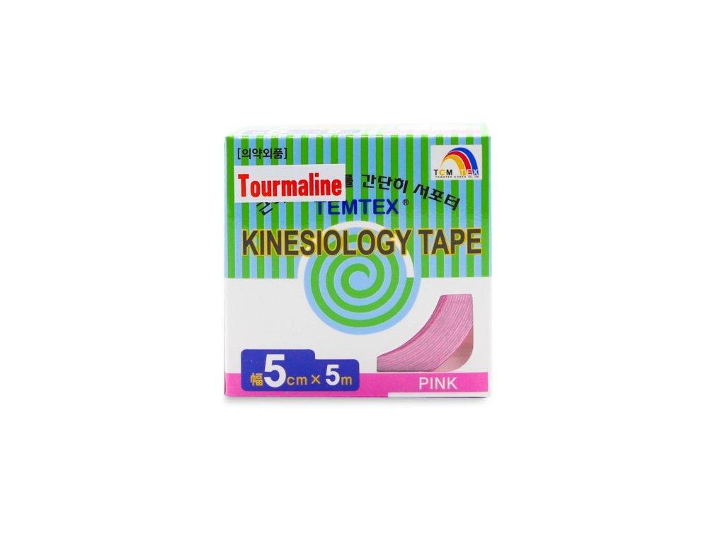 TEMTEX kinesio tape Tourmaline, růžová tejpovací páska 5 cm x 5 m