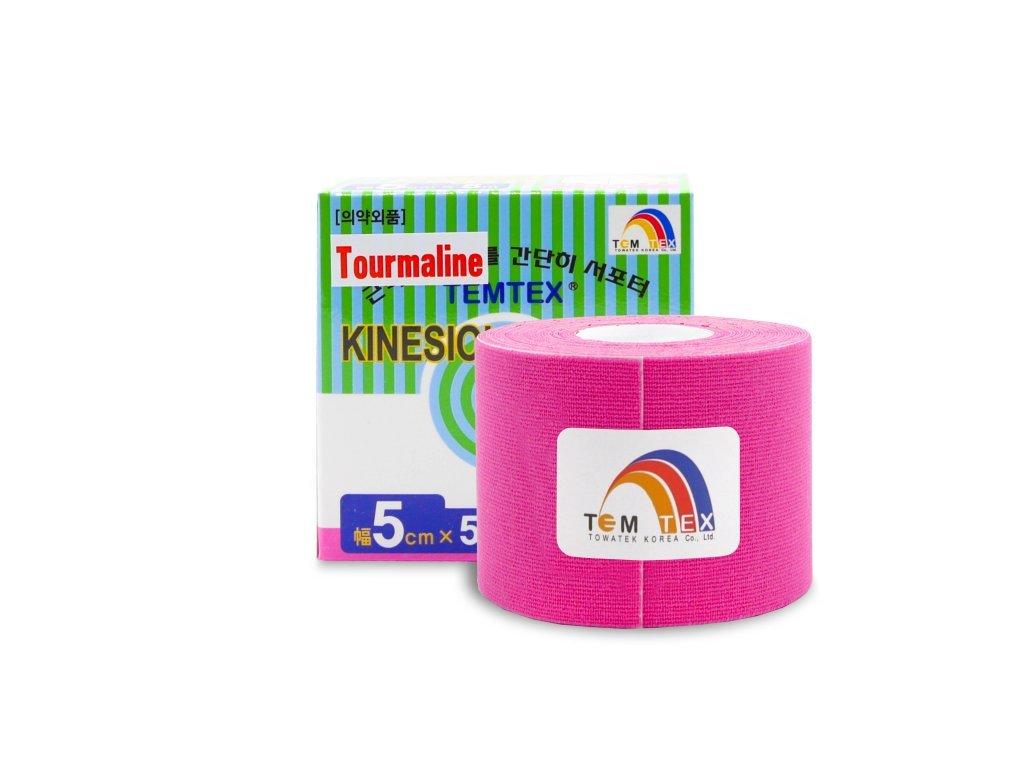 TEMTEX kinesio tape Tourmaline, ružová tejpovacia páska 5cm x 5m
