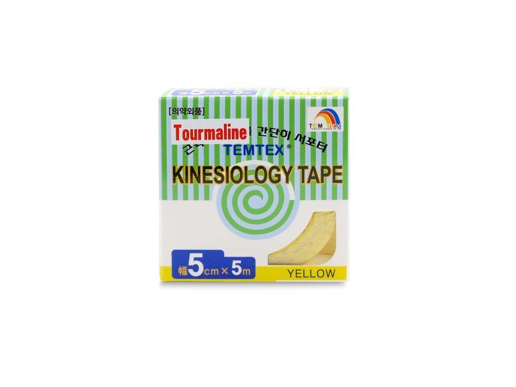 TEMTEX kinesio tape Tourmaline, žlutá tejpovací páska 5 cm x 5 m