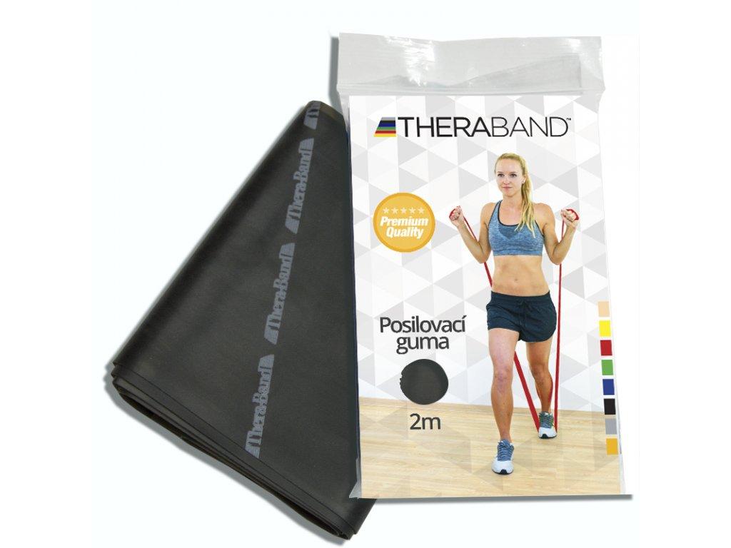 Posilovací guma Thera Band, 2m, černá speciálně silná