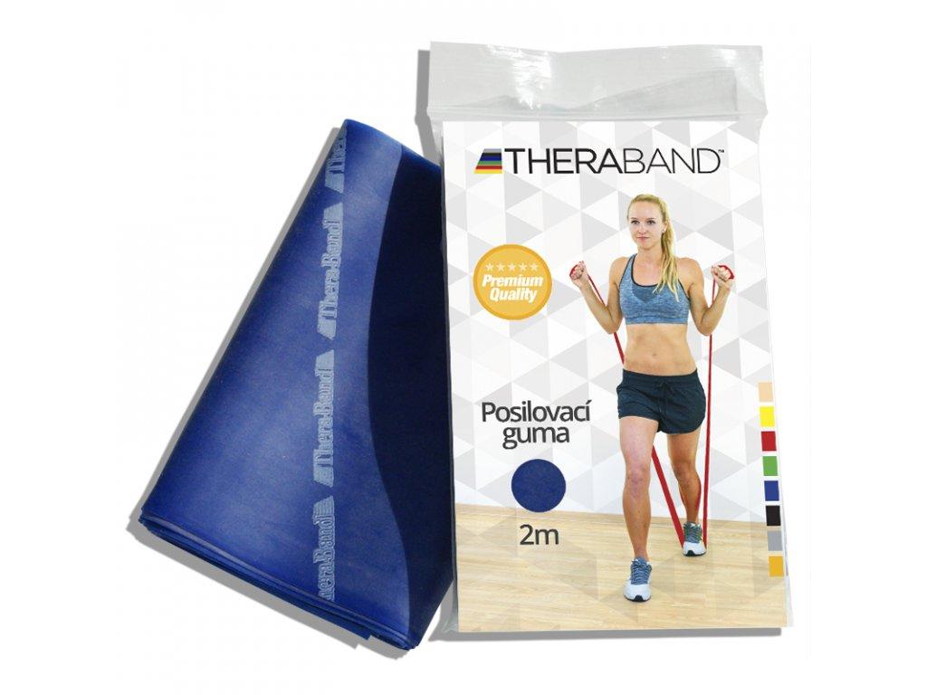 Posilovací guma Thera Band, 2m, modrá extra silná