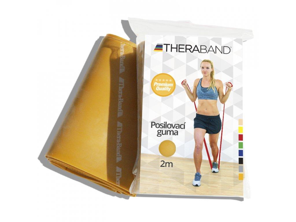 Posilovací guma Thera Band, 2m, zlatá maximálně silná