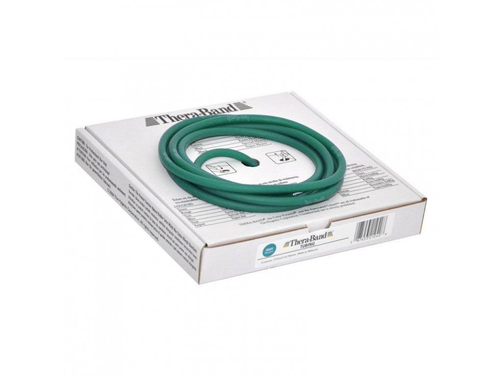 Thera-Band Tubing 7,5 m, zelená, silná