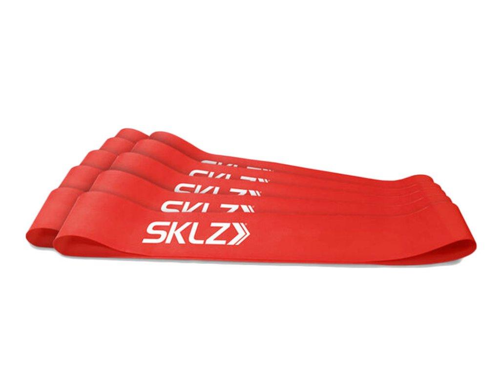 SKLZ Mini Bands - Red, posilňovacia slučka červená (stredná), 10 ks
