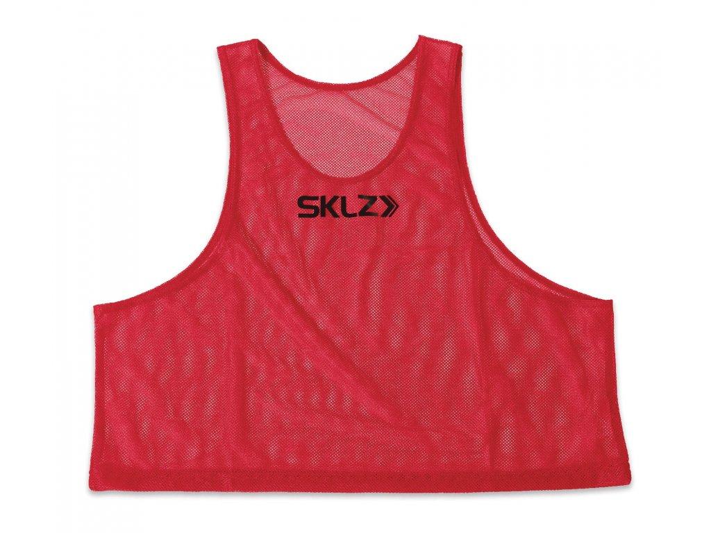 SKLZ Training Vest (Red - Adult), červený rozlišovací dres pro dospělé