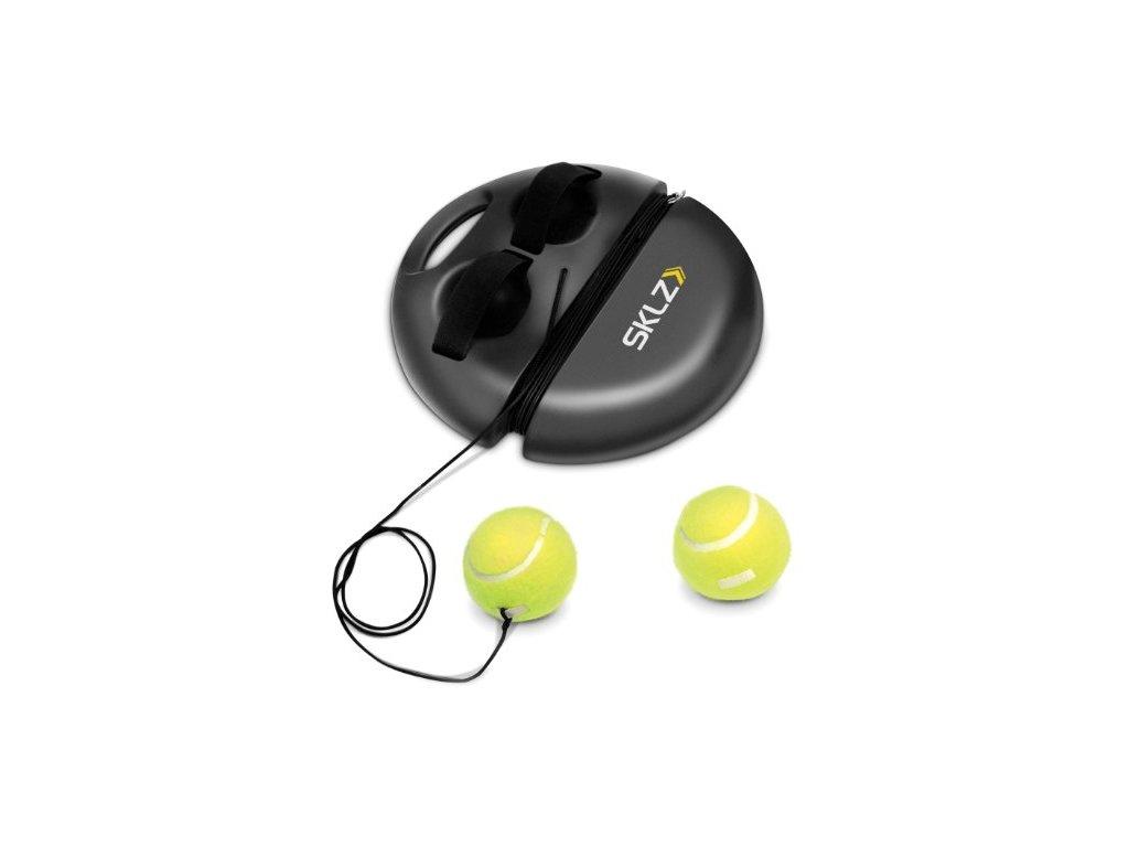 SKLZ PowerBase Tennis, tenisová tenisová loptička na gume so základňou