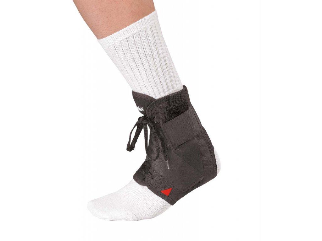 Mueller Soft Ankle Brace w/Straps, ortéza na kotník s pásky, černá
