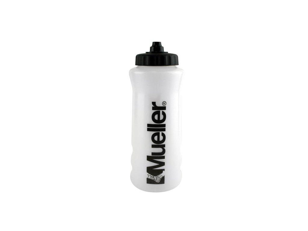 Mueller ATHL Sport Bottles, športové fľaša s čiernym nápisom a bez slamky