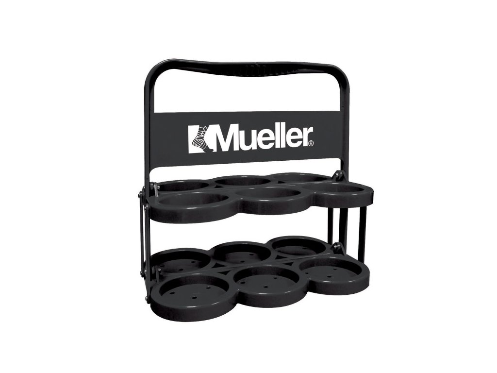 Mueller plastic water bottle carrier black, plastový nosič na športové fľaše