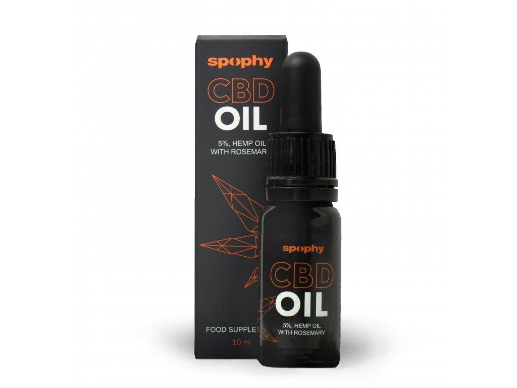Spophy CBD Oil 5%, CBD olej s rozmarínom
