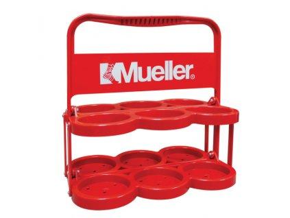 Mueller Plastic Water Bottle Carrier Red, nosič na fľaše, plastový, vhodný aj k športu