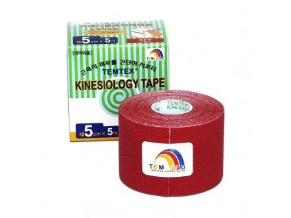 TEMTEX kinesio tape Classic, červená tejpovací páska 5 cm x 5 m