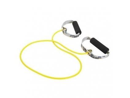 Thera-Band Tubing 122 cm s rukojetí, žlutá, slabá