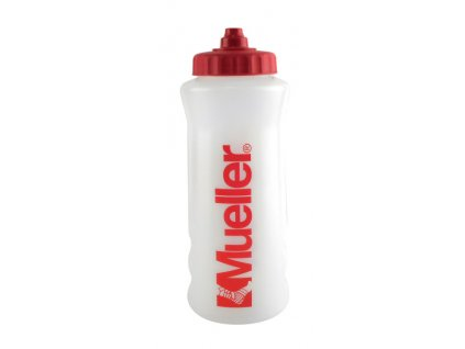 Mueller ATHL Sport Bottles, sportovní láhev, bílá s červeným víčkem
