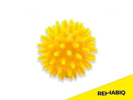 Rehabiq Masážna loptička ježko, žltá 6 cm