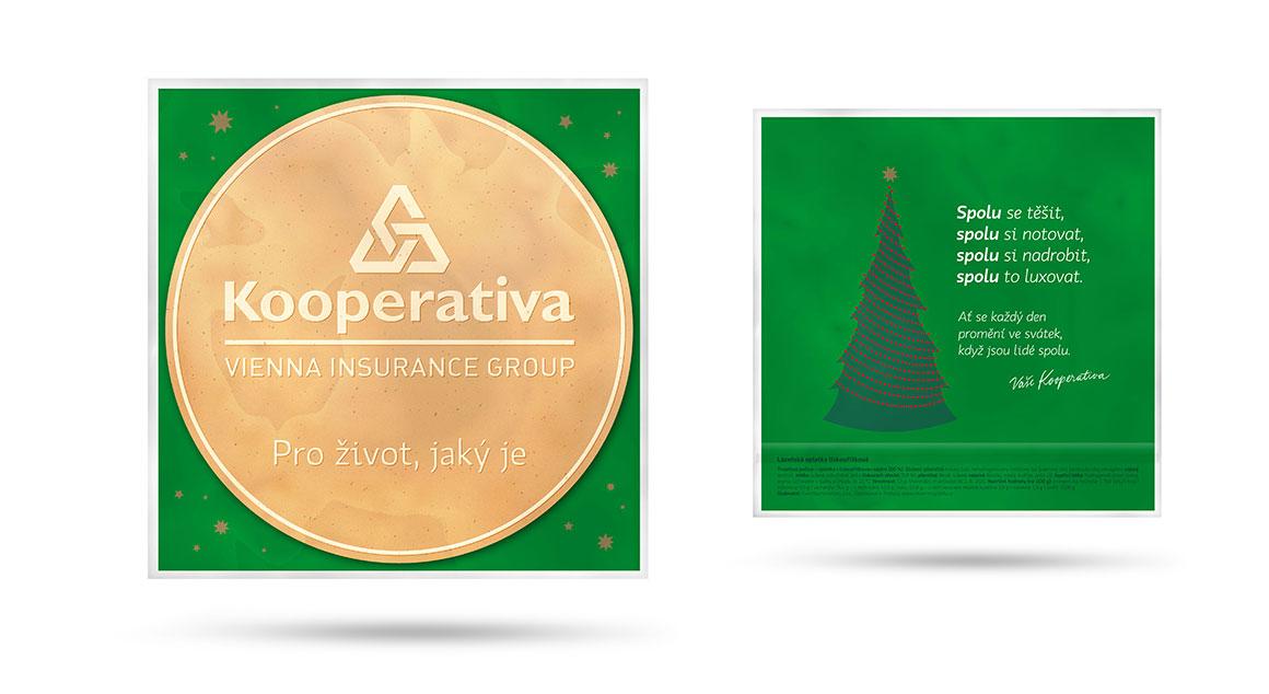 Reklamní oplatky Kooperativa