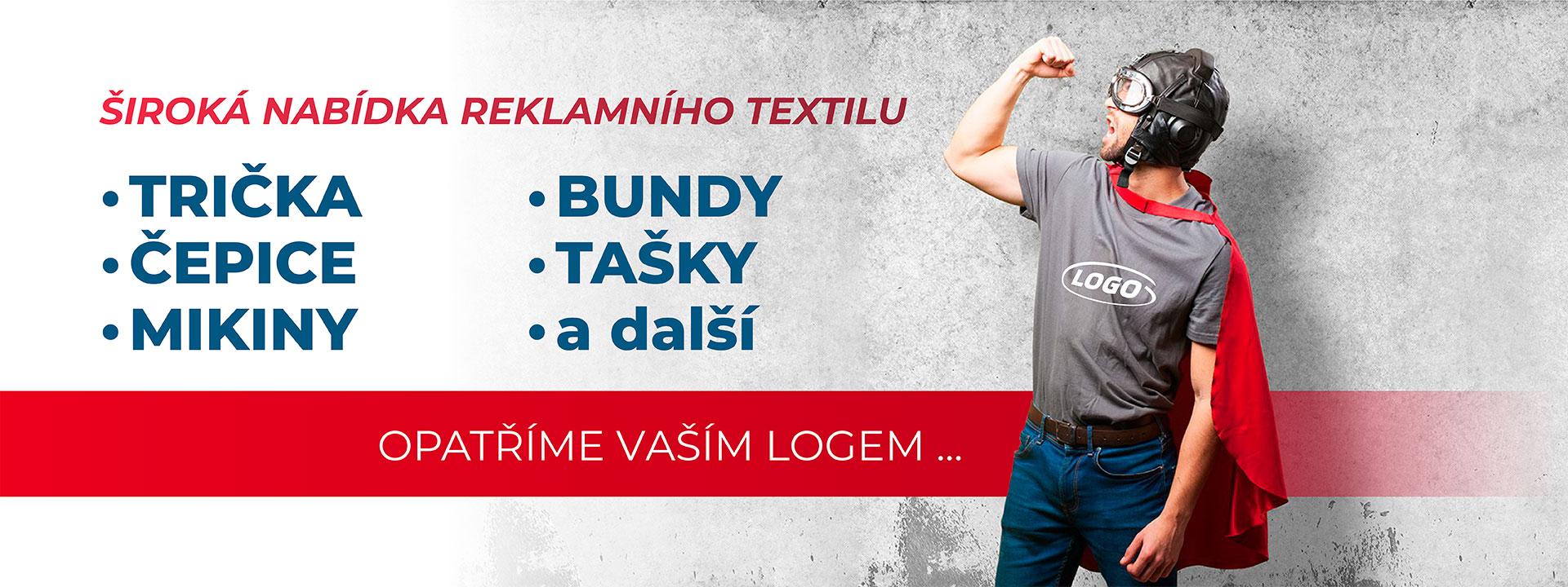 Textil - široká nabídka reklamního textilu