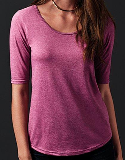 Women's Tri-Blend Deep Scoop 1/2 Sleeve Tee  G_A6756L