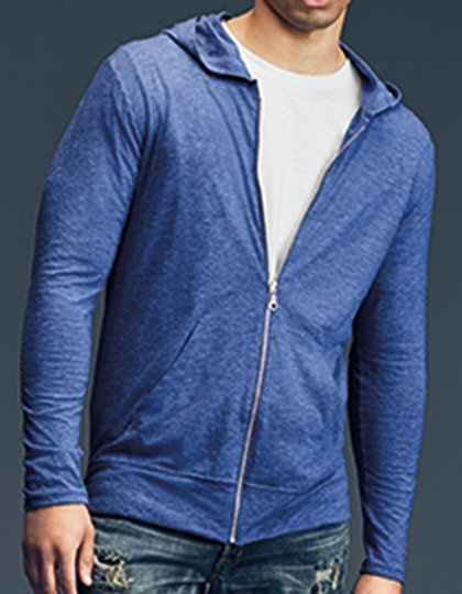 Tri-Blend Full-Zip Hooded Jacket  G_A6759