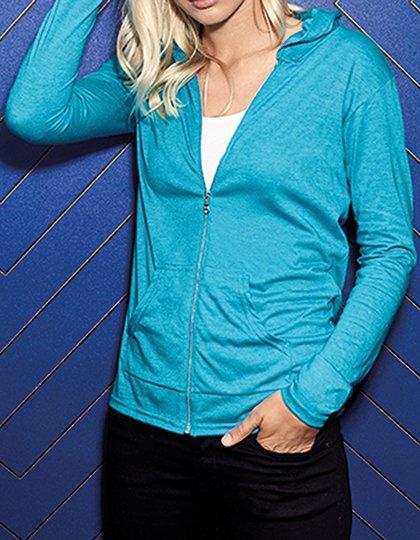 Women`s Tri-Blend Full-Zip Hooded Jacket  G_A6759L