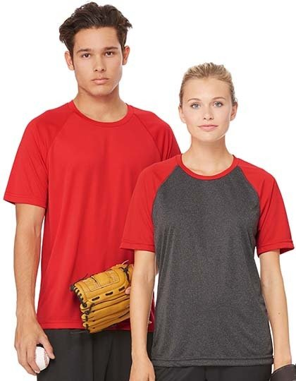 Unisex Performance Short Sleeve Raglan Tee  G_ALM1029