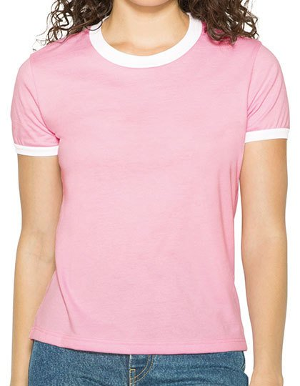 Women`s Poly-Cotton Ringer T-Shirt  G_AM310W