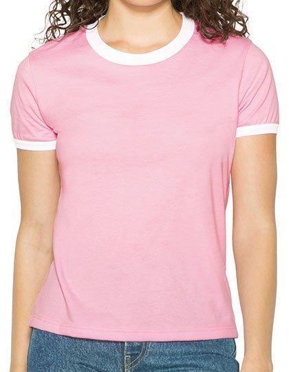 Women`s Poly-Cotton Ringer T-Shirt  G_AM310W