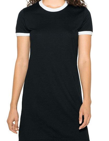 Women`s Poly-Cotton Ringer T-Shirt Dress  G_AM3274