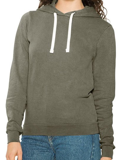 Women`s French Terry Garment Dyed Mid-Length Hoodie  G_AM3350