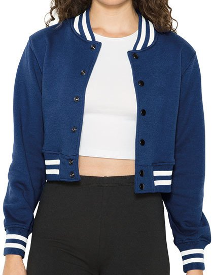 Women`s Heavy Terry Cropped Club Jacket  G_AM3529