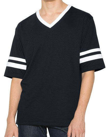 Unisex Poly-Cotton V-Neck Football T-Shirt  G_AM4481