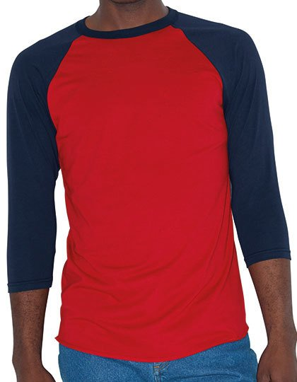 Unisex Poly-Cotton ¾ Sleeve Raglan T-Shirt  G_AM453