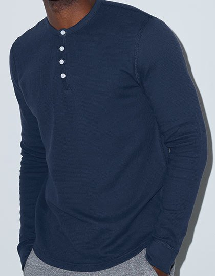 Unisex Baby Thermal Long Sleeve Henley  G_AM457