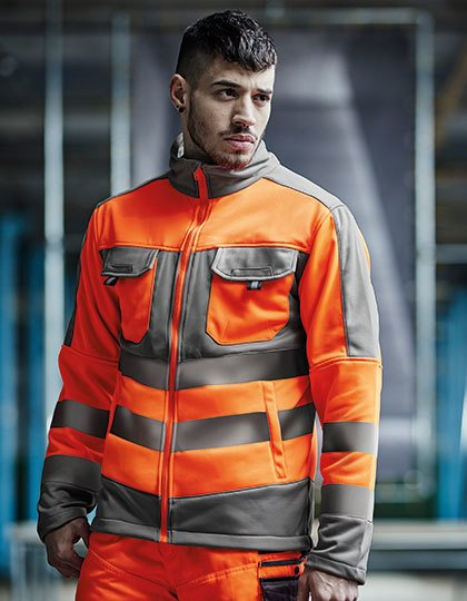 Hi-Vis Extol Stretch F/Z Jacket  G_RG4730