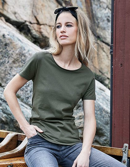 Ladies` Raw Edge Tee  G_TJ5061