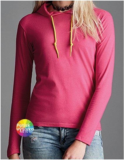 Women`s Lightweight Long Sleeve Hooded Tee  G_A887L