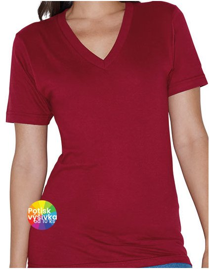 Unisex Fine Jersey V-Neck T-Shirt  G_AM2456