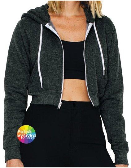 Women`s Flex Fleece Cropped Zip Hooded Sweatshirt  G_AM397
