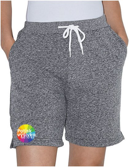 Mock Twist (Salt & Pepper) Gym Short  G_AM4239