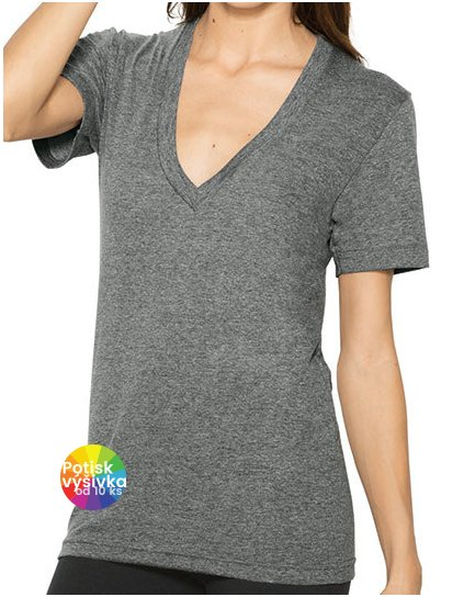 Unisex Tri-Blend Shortsleeve Deep V-Neck T-Shirt  G_AM456