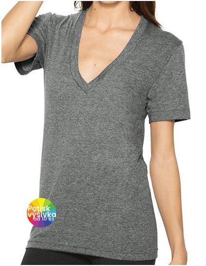 Unisex Tri-Blend Shortsleeve Deep V-Neck T-Shirt  G_AM456