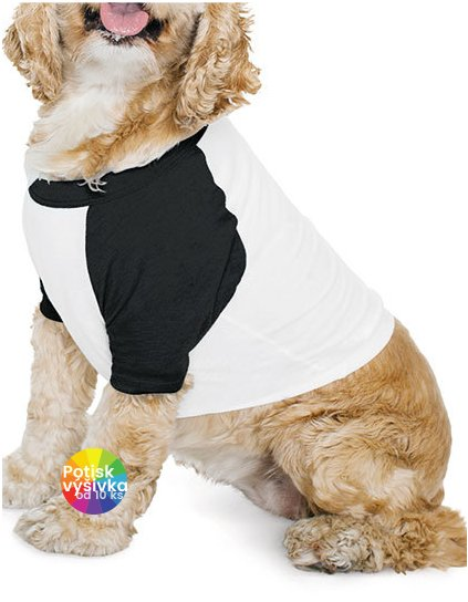 Dog Poly-Cotton 3/4 Sleeve Raglan T-Shirt  G_AM953