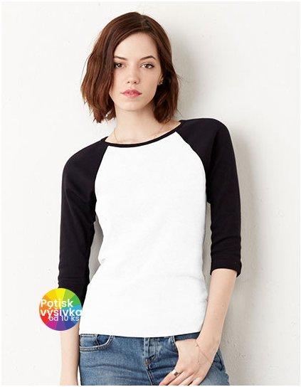 3/4-Sleeve Contrast Raglan T-Shirt  G_BL2000