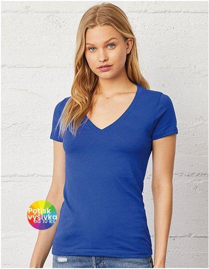 Women`s Jersey Deep V-Neck T-Shirt  G_BL6035