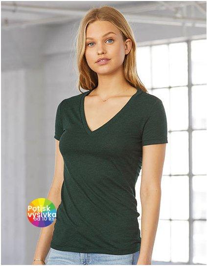 Women`s Triblend Deep V-Neck T-Shirt  G_BL8435