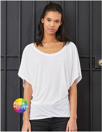 Flowy Draped Sleeve Dolman T-Shirt  G_BL8821