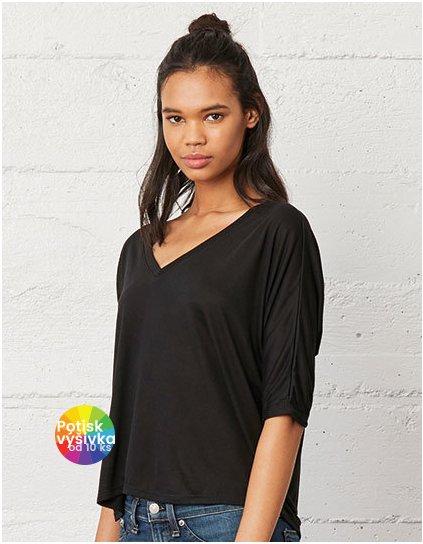 Boxy Half Sleeve V-Neck T-Shirt  G_BL8825