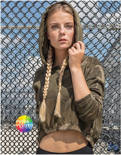 Ladies` Camo Cropped Hoody  G_BY065