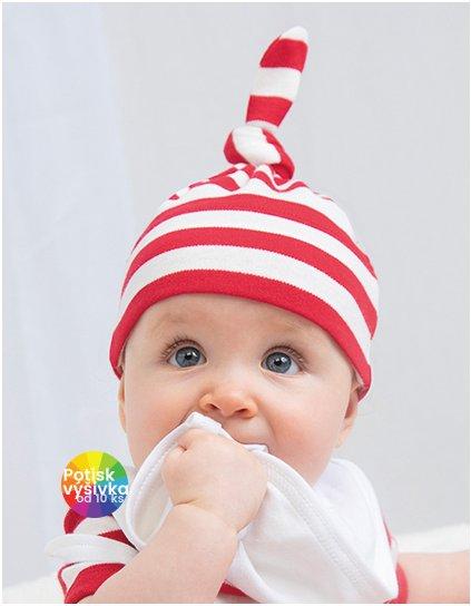 Baby Stripy One Knot Hat  G_BZ15s