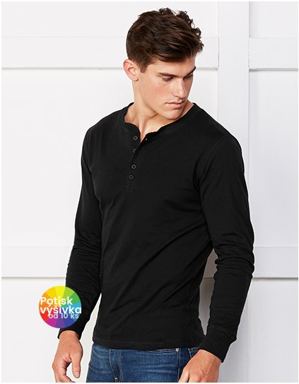 Jersey Long Sleeve Henley  G_CV3150